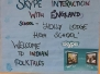 Skype session with Holly Lodge High School England